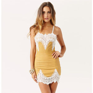 """For Love & Lemons """"Giddy Up"""" faux leather mini"""
